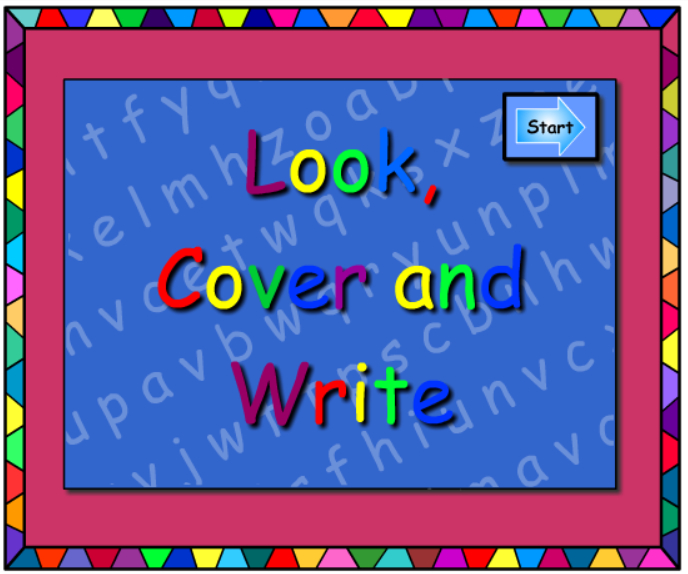or -Look Cover Write