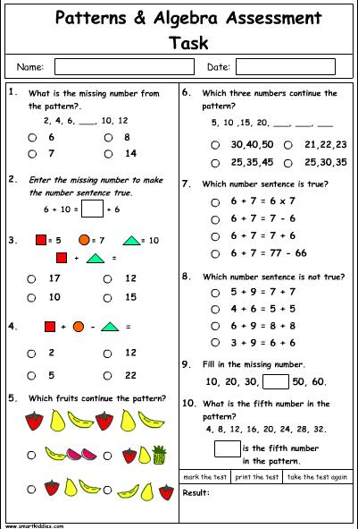 Patterns and Algebra Problem Solving