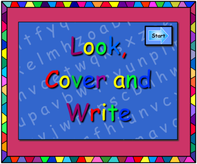 aw -Look Cover Write