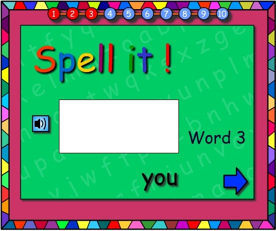 Sight Words -Let's Spell It