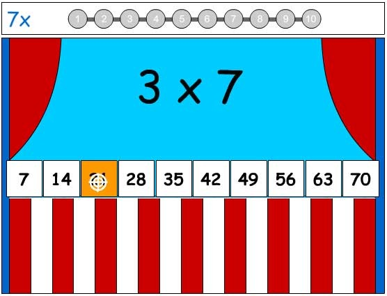 7X Tables Game - Learn the Number Facts