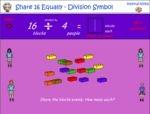Share 16 equally