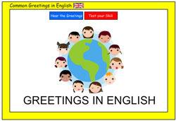 Greetings in English