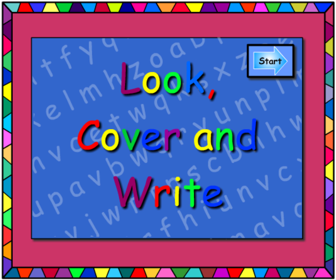 Words - Look Cover Write