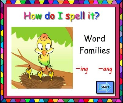 Word Families -ing and -ang