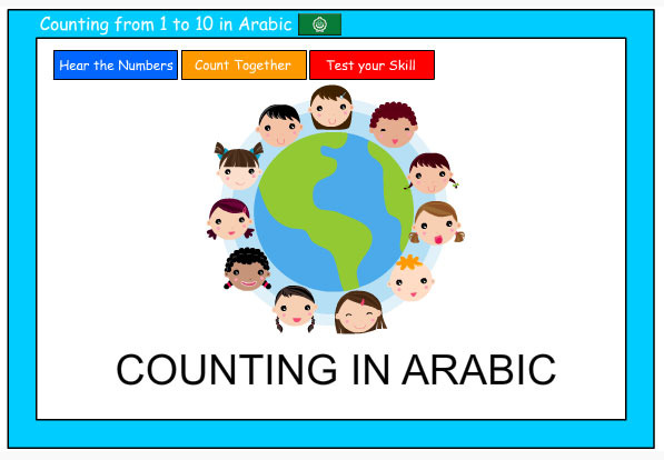 Counting to 10 in Arabic