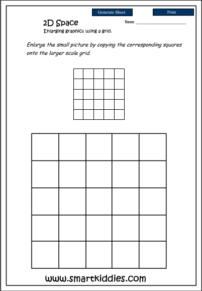 Enlarging graphics using a grid