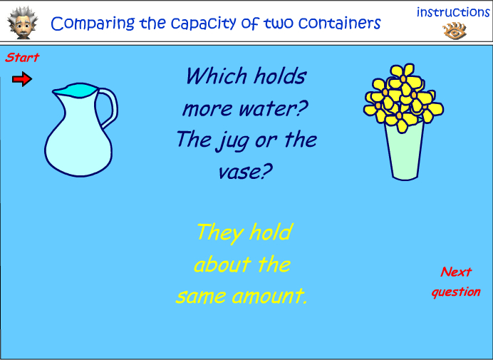 Compare capacity of two containers
