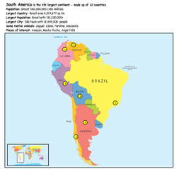 Continent of South America