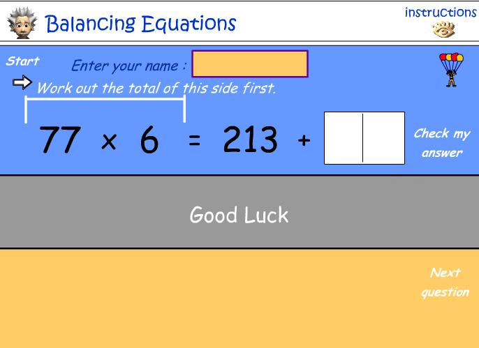 Number relationships - balancing equations no.2