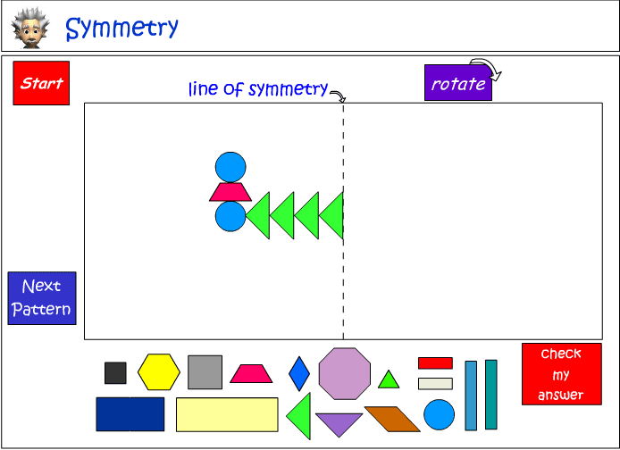 Creating symmetrical patterns