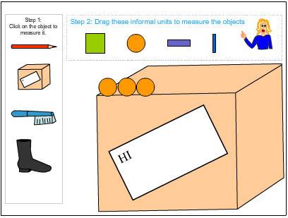Using informal units to measure length.