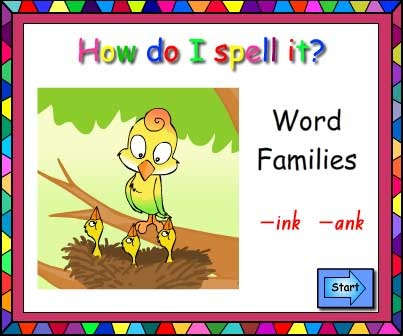 Word Families -ink and -ank