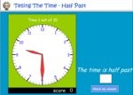 Reading a clock - half past the hour - part 2