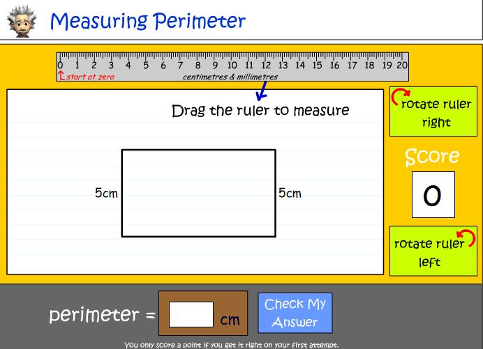 Calculating Perimeter using Centimetres and Millimetres