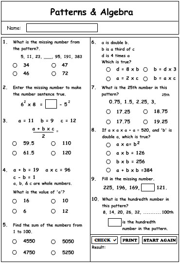 Patterns and Algebra Extension