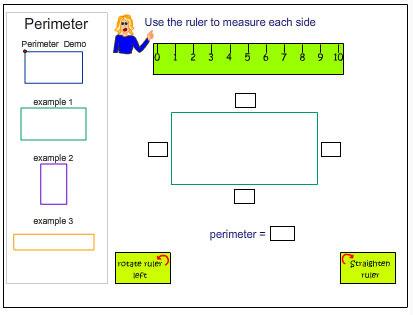 Measure Perimeter Using the Centimetre