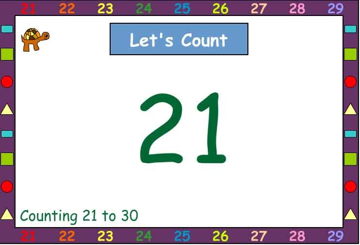Let's Count Together 21-30