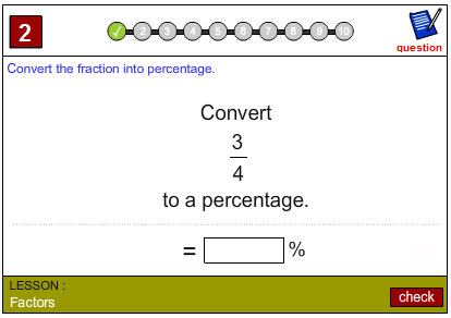 Fractions as Percentages