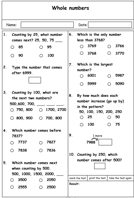 Numbers Problem Solving