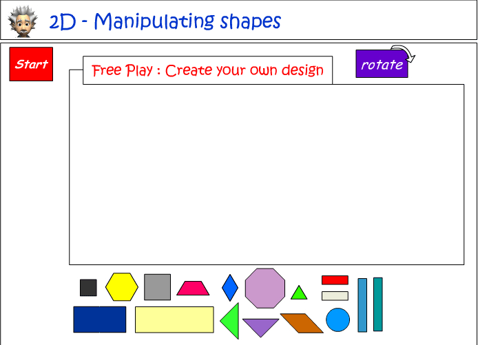 Design using 2D shapes