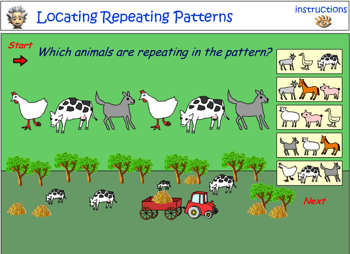 Identifying repeating picture patterns